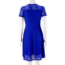 Load image into Gallery viewer, O Neck Royal Lace Short Sleeve Elegant Cocktail Dress