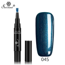 Load image into Gallery viewer, Nail Gel Varnish Pencil One Step 3 In 1 UV Gel Lacquer Glitter Polish
