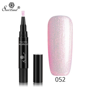 Nail Gel Varnish Pencil One Step 3 In 1 UV Gel Lacquer Glitter Polish