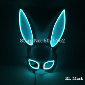 Wire LED Bunny Mask Masquerade