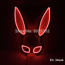 Load image into Gallery viewer, Wire LED Bunny Mask Masquerade