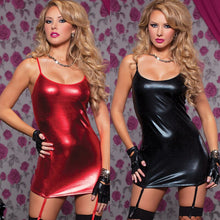 Load image into Gallery viewer, Women's PU Leather Dress Lingerie