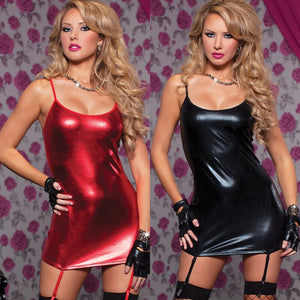 Women's PU Leather Dress Lingerie