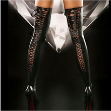 Load image into Gallery viewer, Nightclub Latex Leather Look Stockings