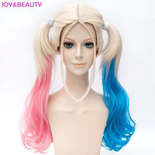 Load image into Gallery viewer, Harley Quinn Cosplay Styled Wavy Synthetic Wig with Ponytail
