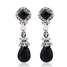 Load image into Gallery viewer, Black Water Drop Clip On Earrings Without Piercing