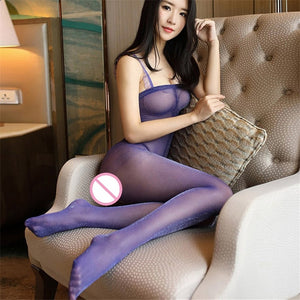 Plus Size Sexy Open Crotch Body Stocking