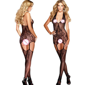 Plus Size Lenceria Sexy Fishnet Lingerie With Open Crotch
