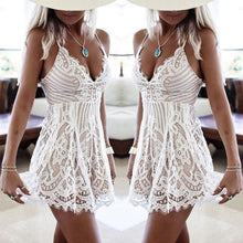Load image into Gallery viewer, Sexy Ladies Lace Summer Mini Dress