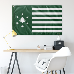 New England - Stars and Bars Flag - Green