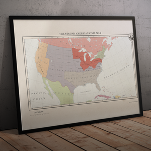 Aidan Maps - The Second American Civil War - Framed
