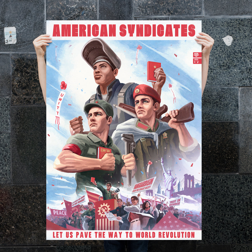 CSA Poster - American Syndicates - Propaganda Poster - World Revolution