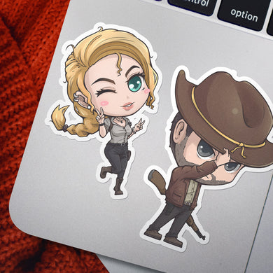 The Divided States Chibi Stickers - Emily Faulkner & Paul Sawyer