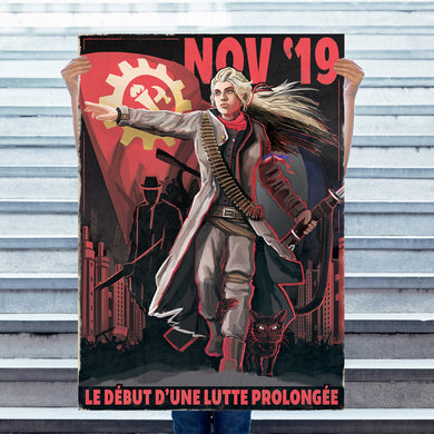 Kaiserreich - Commune of France Propaganda Poster - La Lutte Prolongée