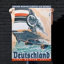 Load image into Gallery viewer, Kaiserreich - German Empire Propaganda Poster - Stark, Wachsam, Bereit.