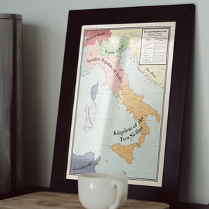 Long Lang Lin Maps - Italy after the Weltkrieg - Framed