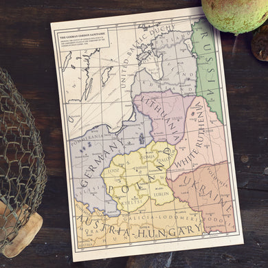 Milites Maps - German Eastern Border - Client States - Poster