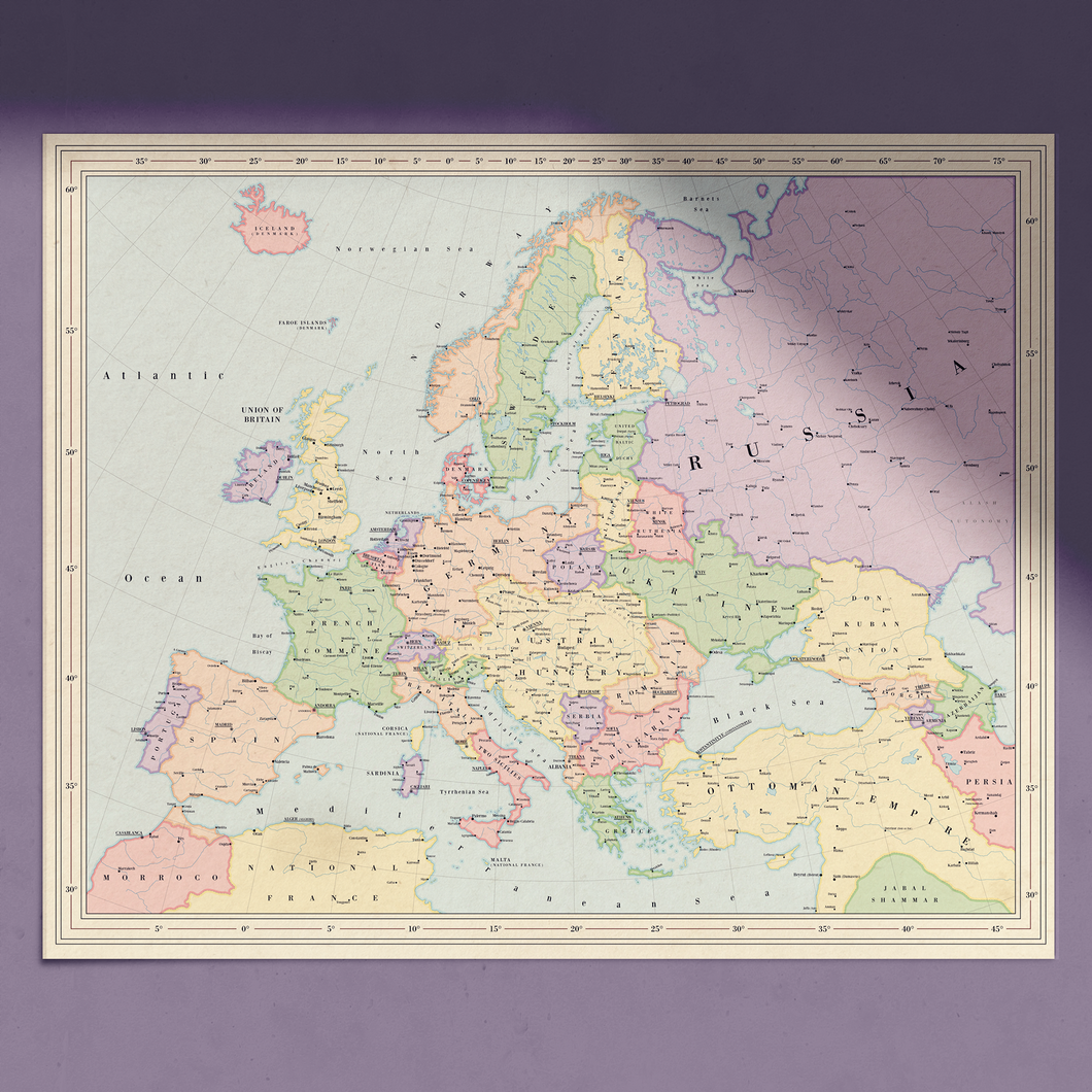Ruskie Business Europe Map  - Poster (Ruskie Style)