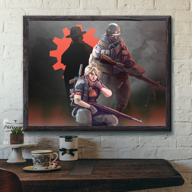 World of Kaiserreich - Combined Syndicates - Framed Art Print