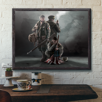 World Of Kaiserreich - USA - Framed Art Print