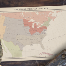 Load image into Gallery viewer, Aidan Maps - the Second American Civil War - Poster