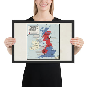 Ruskie Business - British Syndicalist Revolution Map - Framed