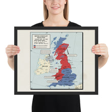 Load image into Gallery viewer, Ruskie Business - British Syndicalist Revolution Map - Framed