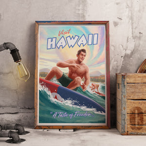 Hawaii Propaganda Poster - Framed - A Taste of Freedom