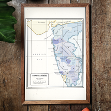 Load image into Gallery viewer, Milites Maps - Maratha States - Framed