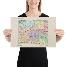 Load image into Gallery viewer, Ruskie Business Maps - Kingdom Of Poland - Poster