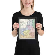 Load image into Gallery viewer, Milites Maps - German Eastern Border - Client States - Framed
