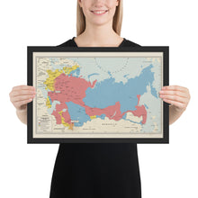 Load image into Gallery viewer, Ruskie Business Russian Civil War Map (Historical) - Framed