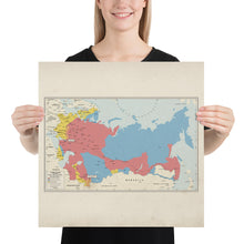 Load image into Gallery viewer, Ruskie Business Russian Civil War Map (Historical) - Poster