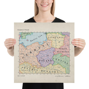 Ruskie Business Maps - Kingdom Of Poland - Poster