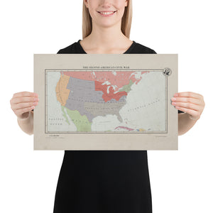 Aidan Maps - the Second American Civil War - Poster