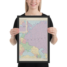 Load image into Gallery viewer, Ruskie Business Maps - Russia & Eastern Europe -  Framed