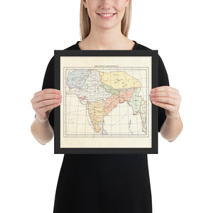 Milites Maps - India - Framed