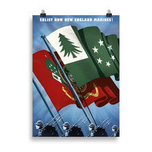 Load image into Gallery viewer, Sir Madman Posters - New England - Enlist, New England Marines!