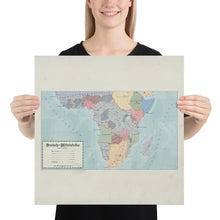 Load image into Gallery viewer, Aidan Maps - Mittelafrika Map - Poster