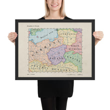 Load image into Gallery viewer, Ruskie Business Maps - Kingdom of Poland - Framed