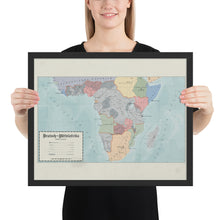 Load image into Gallery viewer, Aidan Maps - Mittelafrika Map - Framed