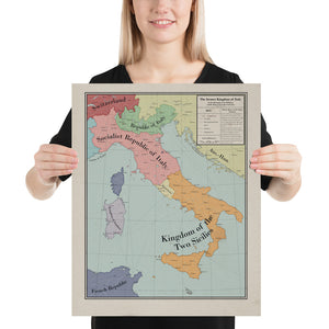 Long Lang Lin Maps - Italy after the Weltkrieg - Poster