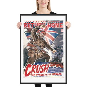 Dominion of Canada Propaganda Poster - Framed - Return Home
