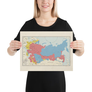 Ruskie Business Russian Civil War Map (Historical) - Poster