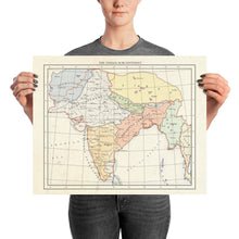 Load image into Gallery viewer, Milites Maps - India - Poster