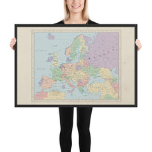 Load image into Gallery viewer, Ruskie Business Europe Map - Framed (Ruskie Style)