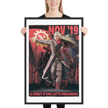Load image into Gallery viewer, Commune of France Propaganda Poster - Framed - La Lutte Prolongée