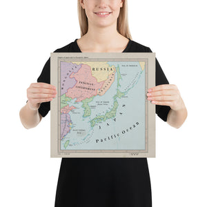 Ruskie Business Maps - The Japanese Empire and Co-Prosperity Sphere- Poster