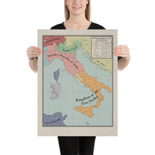 Load image into Gallery viewer, Long Lang Lin Maps - Italy after the Weltkrieg - Poster