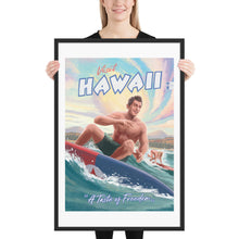 Load image into Gallery viewer, Hawaii Propaganda Poster - Framed - A Taste of Freedom